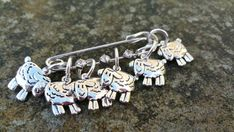 Sheep Knitting Stitch Markers set of 6 Snag Free 2 by CatDesignz