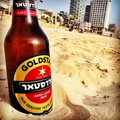 Tel Aviv beach and Goldstar beer - the perfect match,,,