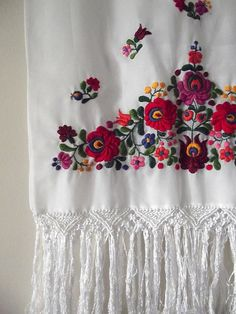 folk embroidery, my mama used to make beautiful ones hungarian