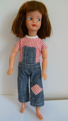 Vintage Sindy Doll - Patch, Sindy's Sister She came with gingham headscarf to match. Sadly original clothes lost.