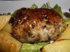 Υλικά: 1 συκωταριά 1 ματσάκι φρέσκα κρεμμυδάκια 1/3 από το ματσάκι μαίδανό 1/3 από το ματσάκι τον άνιθο 5-10 φυλλαράκια δυόσμο 1/4 φλυτζ. τσαγ. ρύζι αλάτι, πιπέρι σκέπη για το τύλιγμα 1 αβγό Εκτέλεση: Κόβουμε σε κομμάτια την συκωταριά και την ζεματάμε. Την ξεπλένουμε και την αφήνουμε να κρυώσει. Τα γλυκάδια δεν τα ζεματάμε, τα [...] Greek Dishes, Greek Recipes, Salmon Burgers, I Am Awesome, Pork, Turkey, Appetizers, Food And Drink, Meat