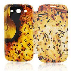 Muziek Symbool Leather Case voor de Samsung Galaxy S3 I9300 – EUR € 7.35