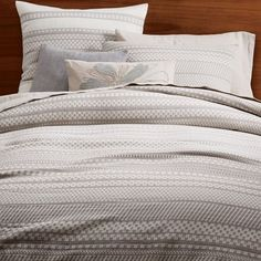 Organic Washed Woven Dot Duvet Cover + Shams | west elm -   Queen Duvet $149 (less 20% is $119.20)  Standard Shams $34 (less 20% is $27.20)  Euro Shams $44 (less 20% is $35.20)