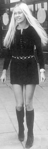 Agnetha as a young.
