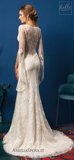 Amelia Sposa Wedding Dresses 2019 - Belle The Magazine Amazing Wedding Dress, Dream Wedding Dresses, Boho Wedding, Bridal Dresses, Wedding Gowns, Wedding Ideas, Wedding Book, Amelia Sposa Wedding Dress, Sheath Wedding Gown