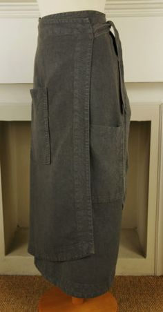 Oska-pocket-detail-asymetric-hem-heavy-linen-wrap-style-skirt-III-UK-14-16                                                                                                                                                      More