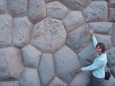 Inca stonework in a flower pattern at Tarahuasi.
