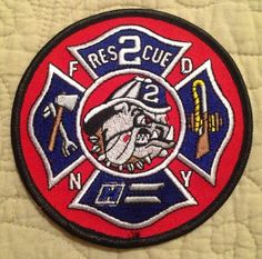 New York Fire Department FDNY Rescue 2 Truck- Patch - Brooklyn - RARE