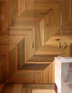 Herringbone wood detail is amazing! by Retrouvius Reclamation and Design door Burger Bar, Interior Architecture, Interior And Exterior, Hampstead House, External Wooden Doors, Door Design, House Design, Wood Doors, Entry Doors