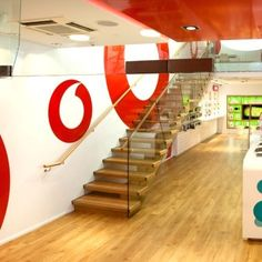 Commercial steel stair in Vodafone store Wellington