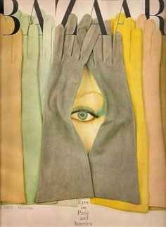 Cover from 1959 Harper's Bazaar art direction by the great Henry Wolf; worked in 1952 as the art director of Esquire and in 1958 for Harpers Bazaar Richard Avedon, Fashion Magazine Cover, Fashion Cover, Magazine Covers, Diana Vreeland, Poster Design, Art Design, Harpers Bazaar, Cover Art