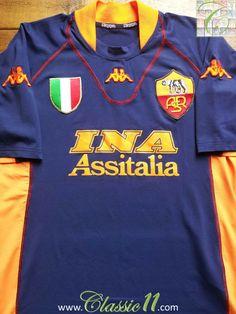 ac2f31e0ffb Relive Roma's 2001/2002 season with this vintage Kappa 3rd football shirt.  Football Uniforms