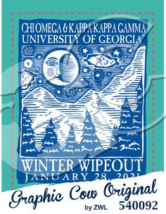 Winter Wipeout moon stars mountain outdoors #grafcow