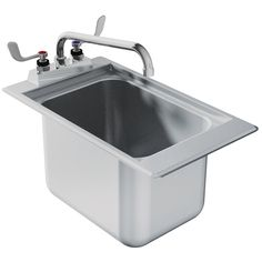 Advance Tabco DBS 1 One Compartment Stainless Steel Drop In Bar Sink   12