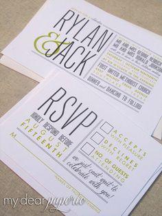 Printable wedding invitation modern wedding gray by mydearpaperie, $50.00