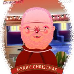 I shaved all santas hair off and the little that was left I died pink