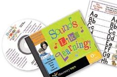 "Inspire your little one to learn with this musical collection of 20 quiet-time tunes. Each selection has been carefully mastered to support emerging language and listening skills while teaching opposites, manners, Spanish, alphabet awareness, counting skills and more. Set includes a lyric booklet and colorful booklet with a chart that teaches the sounds of the letters in the alphabet. Formerly known as ""Sounds Like Fun""    from birth - kindergarten"