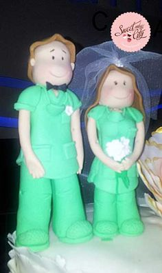 Mr. & Mrs. Doctors!! Toppers for a Wedding Cake www.sweetandthecity.com