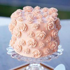 Just Peachy Wilton Rose Cake