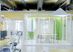 Inblum Architects designs Wix offices with glazed meeting rooms