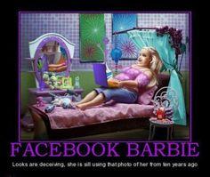 Facebook Barbie....
