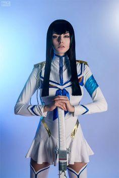 Nice and sexy Satsuki Kiryuin cosplay from Kill la Kill by AlienOrihara. Photo by TimFrost