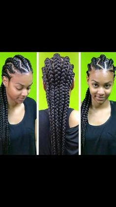 Cornrows # African hairstyle  # braids # nappy hair # protective hairstyle # nappy girl # natural hair # nattes # tresses # rasta # renversés # crochet