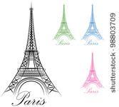An image of a Paris Eiffel Tower Icon. by John T Takai, via ShutterStock