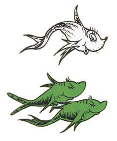 Pix For > Dr Seuss Blue Fish Clip Art