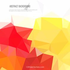 Polygonal Red Yellow Background Vector