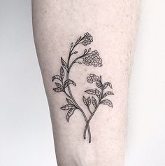 tattoos -                                                      Forget-Me-Not Forearm // Flower Tattoo Ideas That Are So Much Better Than a Bouquet