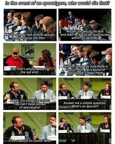 that one time when the supernatural cast made a Dr who reference