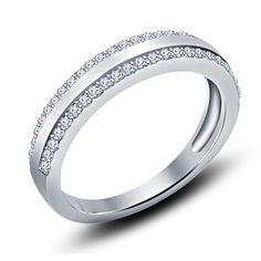 Girls/Ladies Design Round Cut Sim.Diamond Wedding Band Ring With Silver Plated #WeddingAnniversaryBand