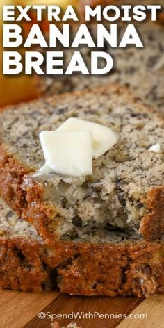 This is an easy Banana Bread recipe that makes a soft and moist banana bread. Once you try this, it'll become your go-to to use ripe bananas. Quick Banana Bread, Super Moist Banana Bread, Flours Banana Bread, Vegan Banana Bread, Chocolate Banana Bread, Banana Walnut Bread Moist, 2 Bananas Banana Bread, Buttermilk Banana Bread, Banana Bread Brownies