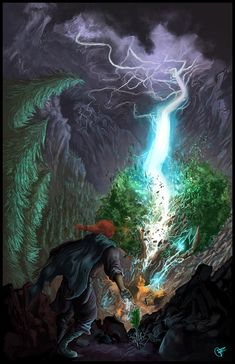 Illustration based on a scene from A Wise Man's Fear by Patrick Rothfuss. This is during the assault on the bandit's camp, when Kvothe gets desperate, a. Fantasy Rpg, Fantasy Books, Fantasy Artwork, The Wise Man's Fear, The Kingkiller Chronicles, Patrick Rothfuss, Fantasy Literature, Can Lights, Fan Art