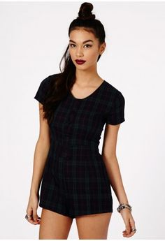 Also this tartan playsuit, don't know which I like more. Team it with a nice gold necklace and some black heels.