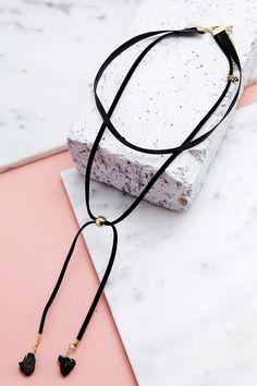 Black Marble Choker – Haute & Rebellious