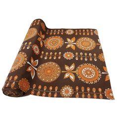 Coupon tissu vintage 60's 70's 294 cm en 40 cm Ameublement Couture DIY - Label Emmaüs Motif Floral, Deco, Louis Vuitton Monogram, Pattern, Bags, Raincoat, Vintage Decor, Tricot, Color