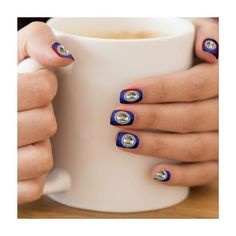 Black Grunge Belize Flag Minx?� Nail Wraps ($23) ❤ liked on Polyvore featuring accessories and scarves