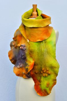 OOAK Felted scarf by ArtInTouch on Etsy, $120.00
