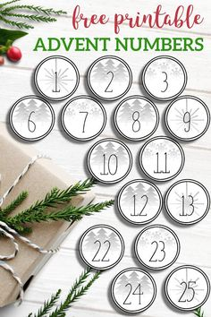 Easy and inexpensive advent. Advent Calenders, Diy Advent Calendar, Kids Calendar, Advent Calendar Ideas For Adults, Printable Numbers, Printable Calendar Template, Twelve Days Of Christmas, Christmas Diy, Xmas