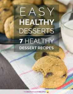 In this eCookbook, Easy Healthy Desserts 7 Healthy Dessert Recipes eCookbook, you will find some of our favorite healthy desserts on TheBestDessertRecipes.com. Everyone is entitled to indulging in a decadent dessert now and then, but sometimes you wa