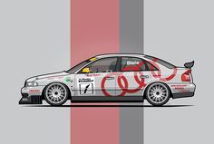 Four Rings A4 Quattro B5 Super Touring by Tom Mayer