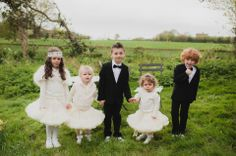 Flower girls and page boys Pretty Pastel Shades and Ostrich Feather Glamour: A 1950s Rock n Roll Inspired Bride | Love My Dress® UK Wedding Blog