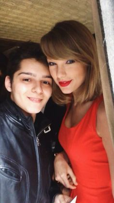 Taylor with a fan in NYC today!