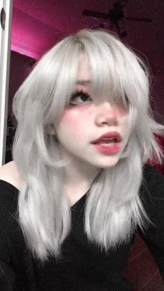 Hair Inspo, Hair Inspiration, Looks Pinterest, Shot Hair Styles, Fluffy Hair, Grunge Hair, Goth Hair, Hair Reference, Cut My Hair