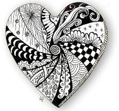 Resultado de imagen para zentangle corazon