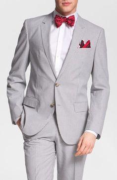Seersucker suit for men - great idea  BOSS Black 'Hedge/Gense' Trim Fit Seersucker Suit | Nordstrom