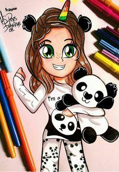 Kawaii Girl Drawings, Cute Girl Drawing, Girly Drawings, Cartoon Girl Drawing, Disney Drawings, Cartoon Drawings, Easy Drawings, Unicorn Drawing, Pony Drawing