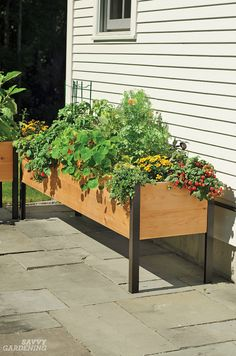 Raised planter boxes need to be made of weather-resistant, food-safe materials. (AD)